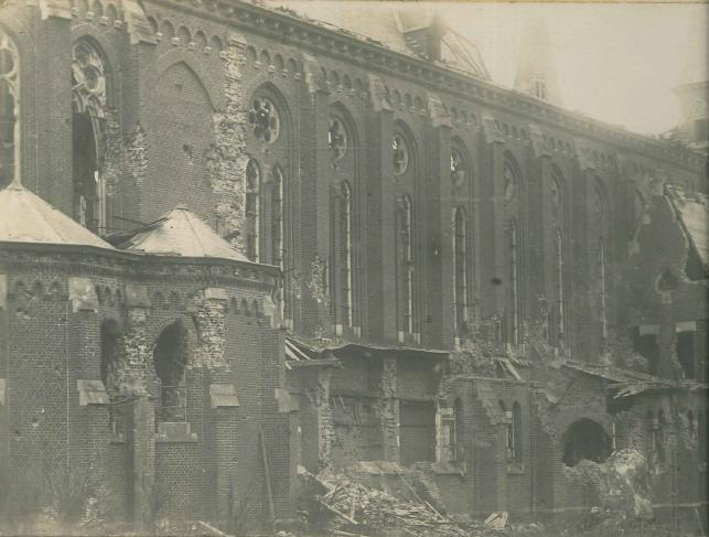 La sacristie a été détruite