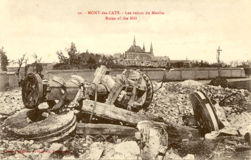 Photo prise depuis les ruines du moulin vers l'abbaye