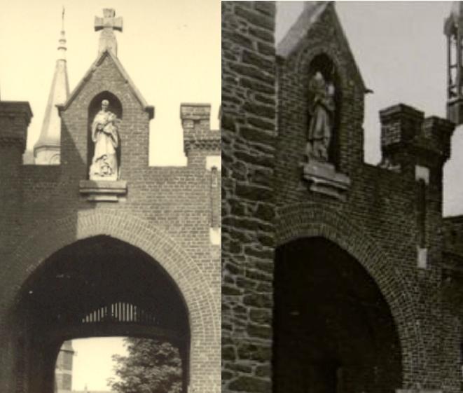 Saint Bernard sur le portal, avant et après les bombardements