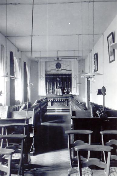 La chapelle provisoire à l'hôtellerie