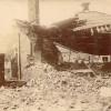 """La cuisine ou ce qui en reste, avant l""""effondrement de la cheminée, fin 1919"""